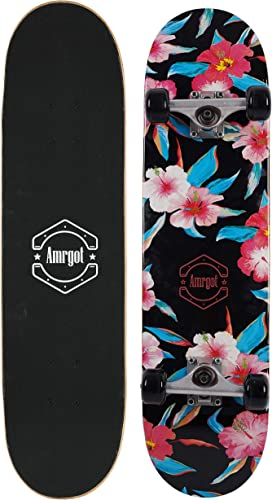 Amrgot Skateboards Pro 31 inches Complete Skateboards for Teens, Beginners, Girls,Boys,Kids,Adults