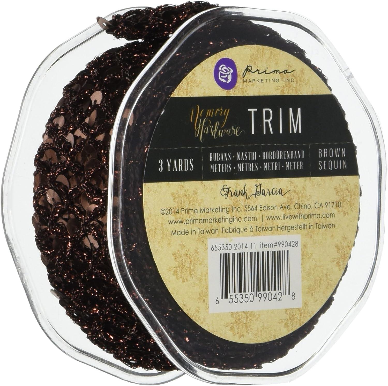Prima Marketing Memory Hardware Sequin Trim 1.3 X3 Yards-Brown