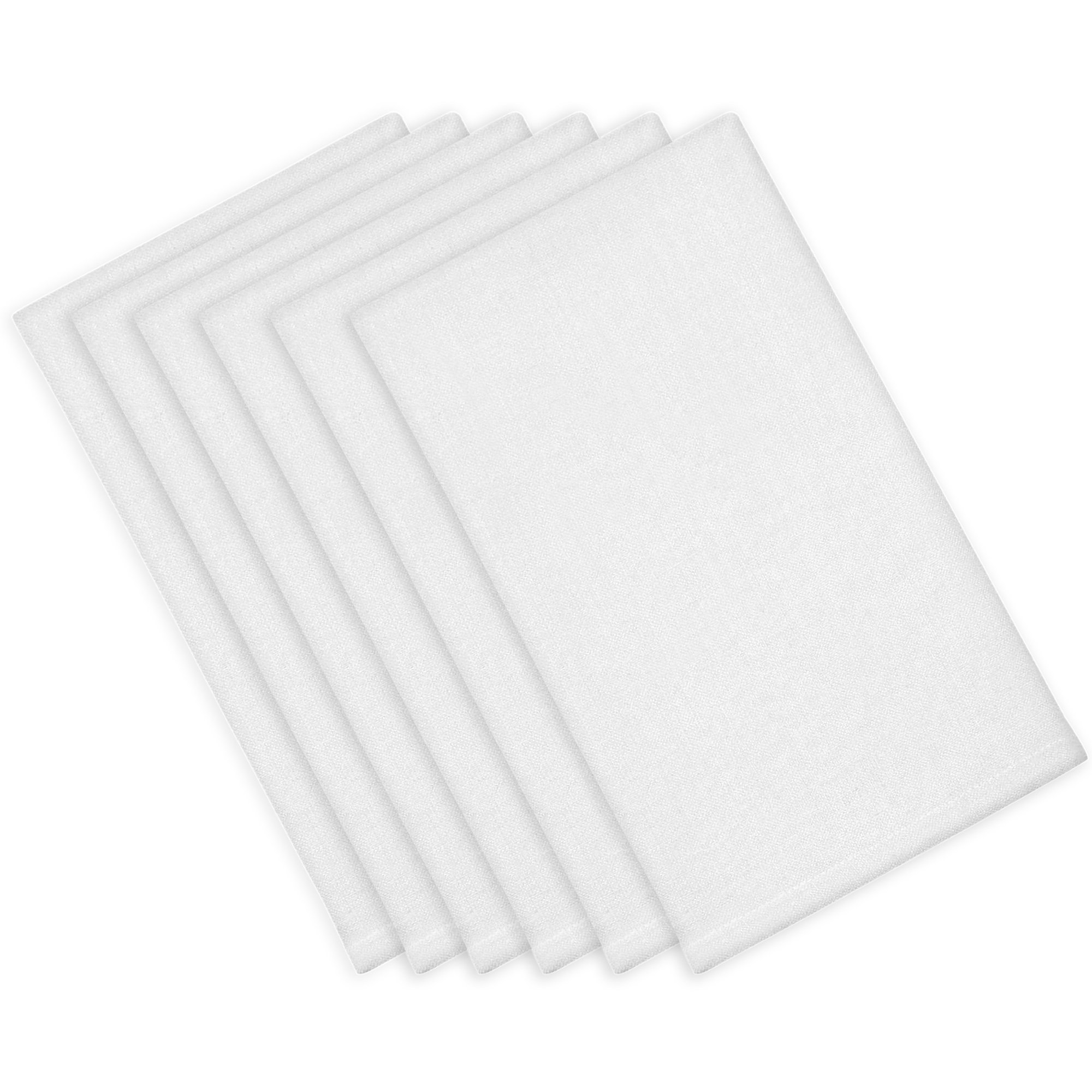 ITOS365 Cotton Dinner Napkins White - 12 Pack (18 inches x18 inches) Soft and Comfortable - Durable Hotel Quality - Ideal for Events and Regular Home Use