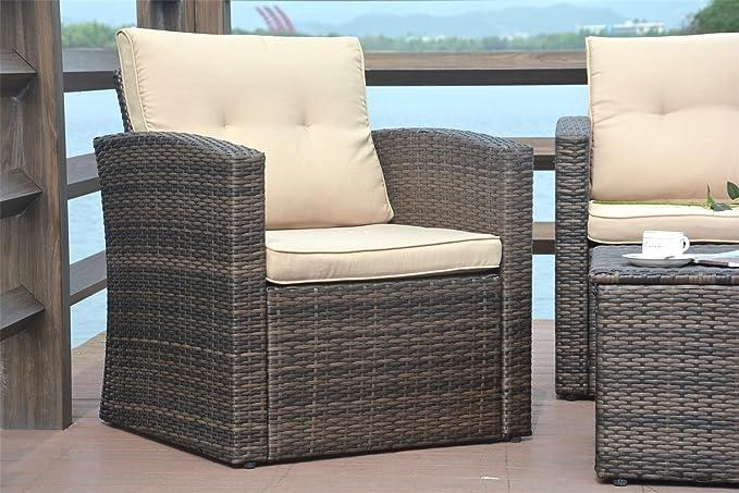 Amazon.com: Direct Wicker - Juego de muebles de mimbre para ...