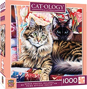 MasterPieces Cat-ology Jigsaw Puzzle, Raja and Mulan, Featuring Art by Jenny Newland, 1000 Pieces