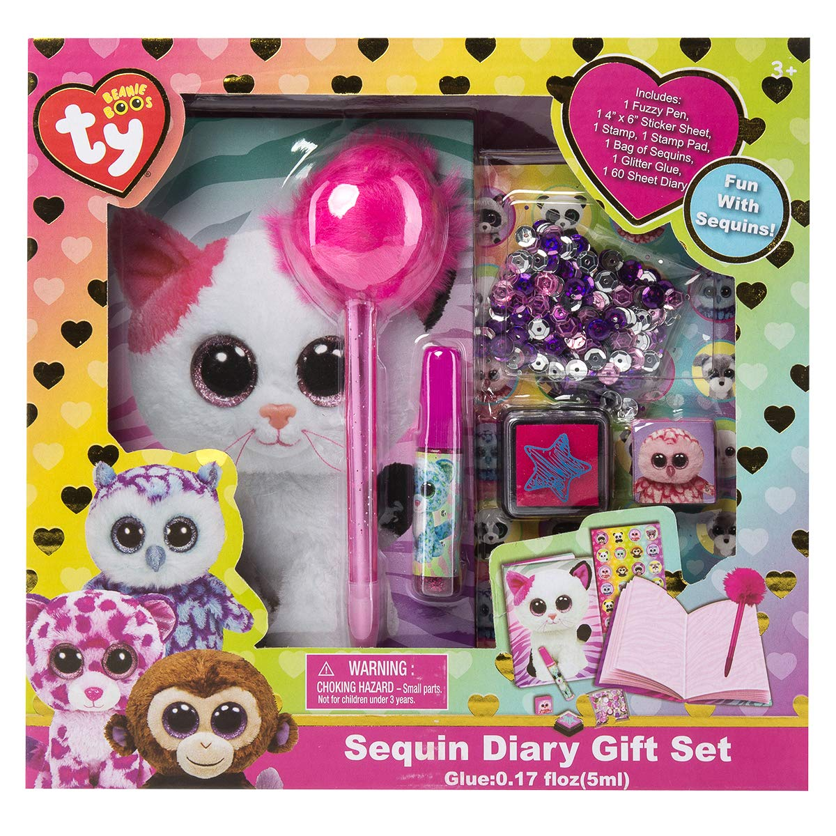 34c43b826c4 Amazon.com  Ty Beanie Boos Sequin Diary Gift Set  Toys   Games