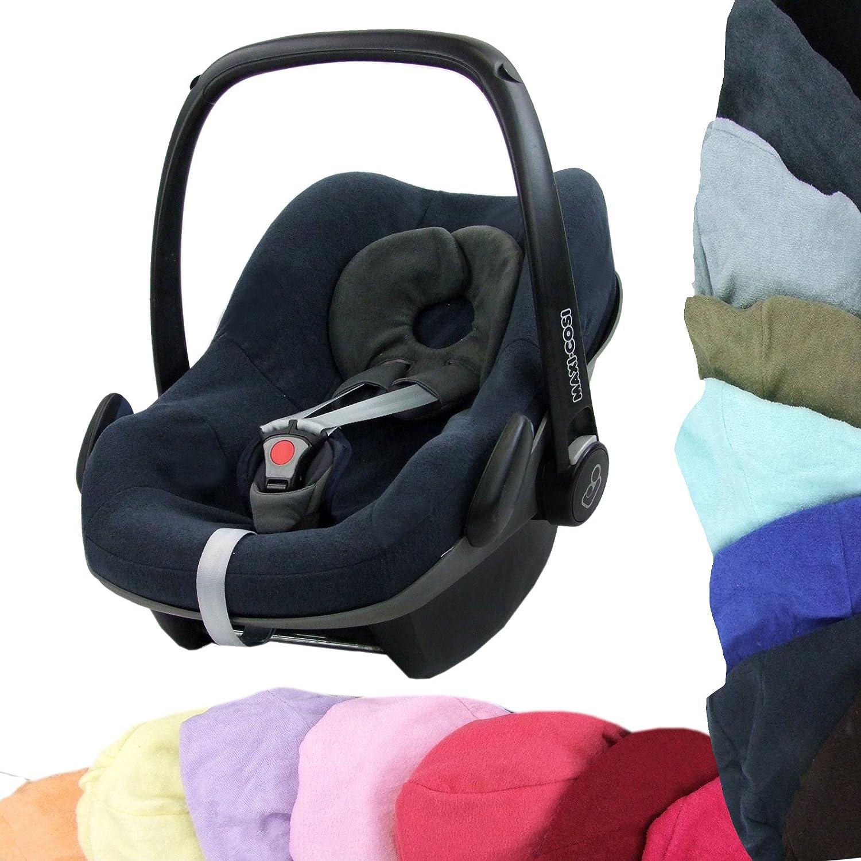 coral Bezug aus Frottee f/ür MAXI-COSI PEBBLE Babyschale Schonbezug BAMBINIWELT Sommerbezug