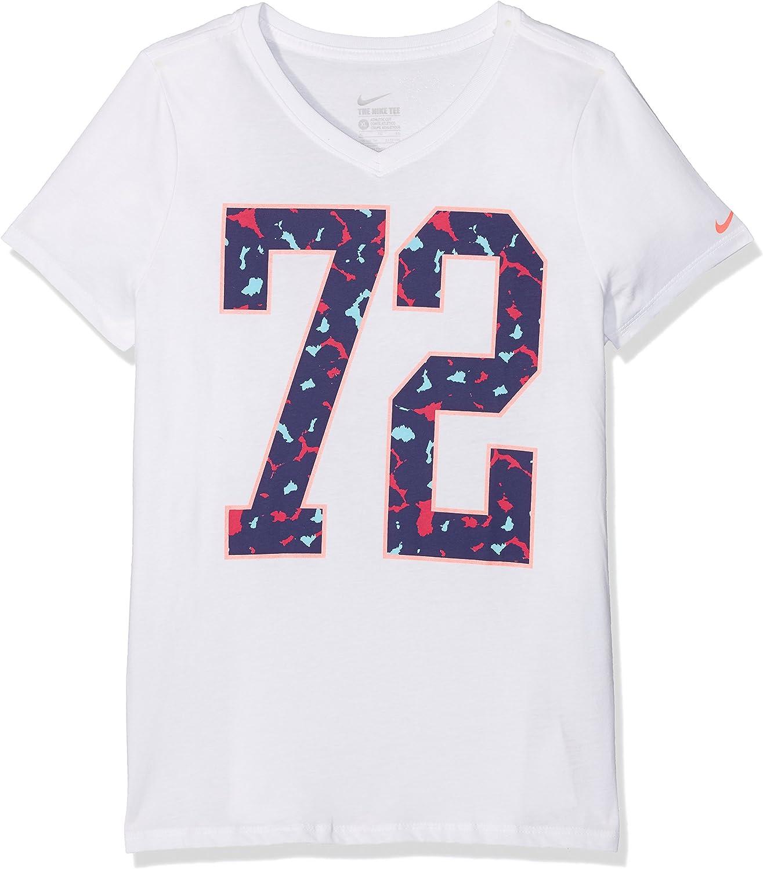 relé mayoria cuenco  Nike Girls' Number 72 Trainingsshirt T-Shirt, weiß/Blau/Pink, X-Large:  Amazon.co.uk: Clothing