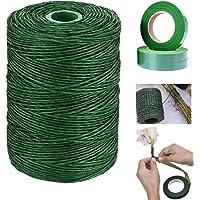 20 Gauge Floral Wire + 3 Rolls Floral Tape, BetterJonny 689 Feet Paper Waterproof Bind Wire Vine Wire for Bouquet Stem…