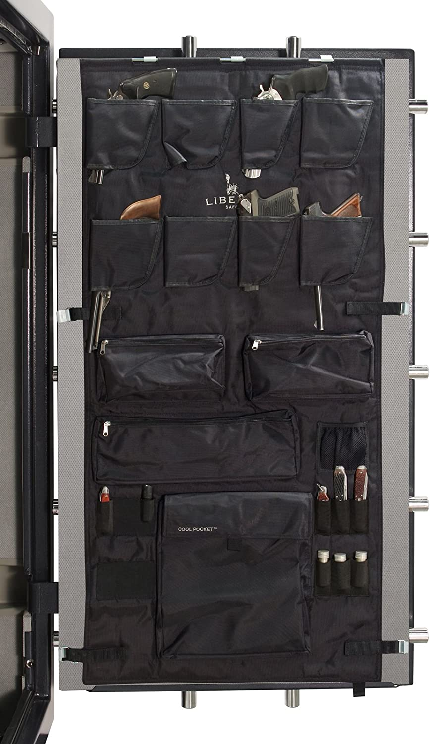 Liberty Door Panel - Fits Gun Safe Models 30-35-40 - Accessory and Organizer for Pistols, Handguns, Ammunition, Magazines, Choke Tubes and Other Security Products - Item 10586 - Black 81dsw3ngA2BLSL1500_