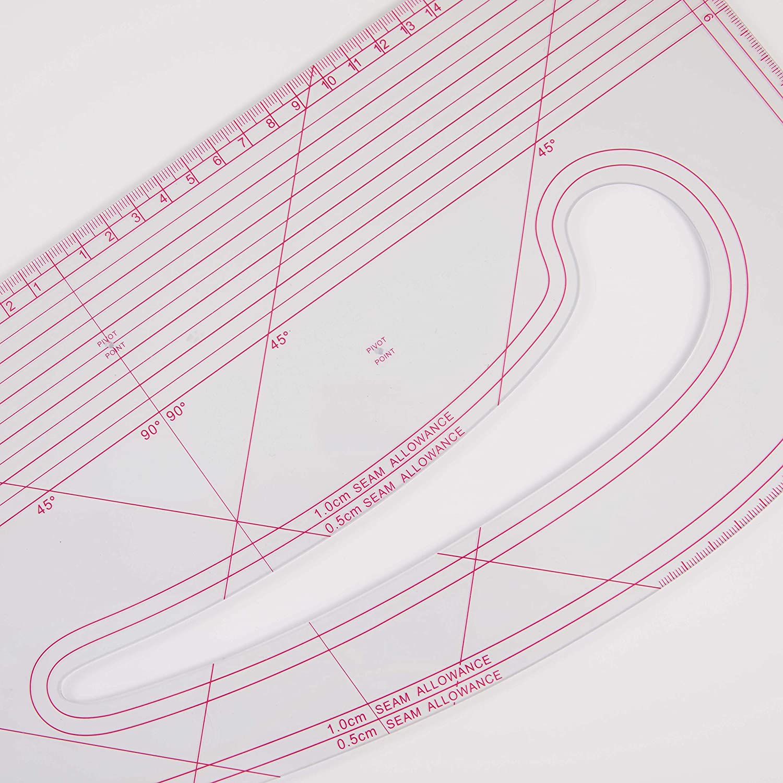 pattern making ruler sewing ruler,cutting ru garment ruler DIHAN #9511 transplant drawing Mold Ruler,seam allowance French curve Ruler vary form plastic Tailor fashion design ruler tailoring ruler