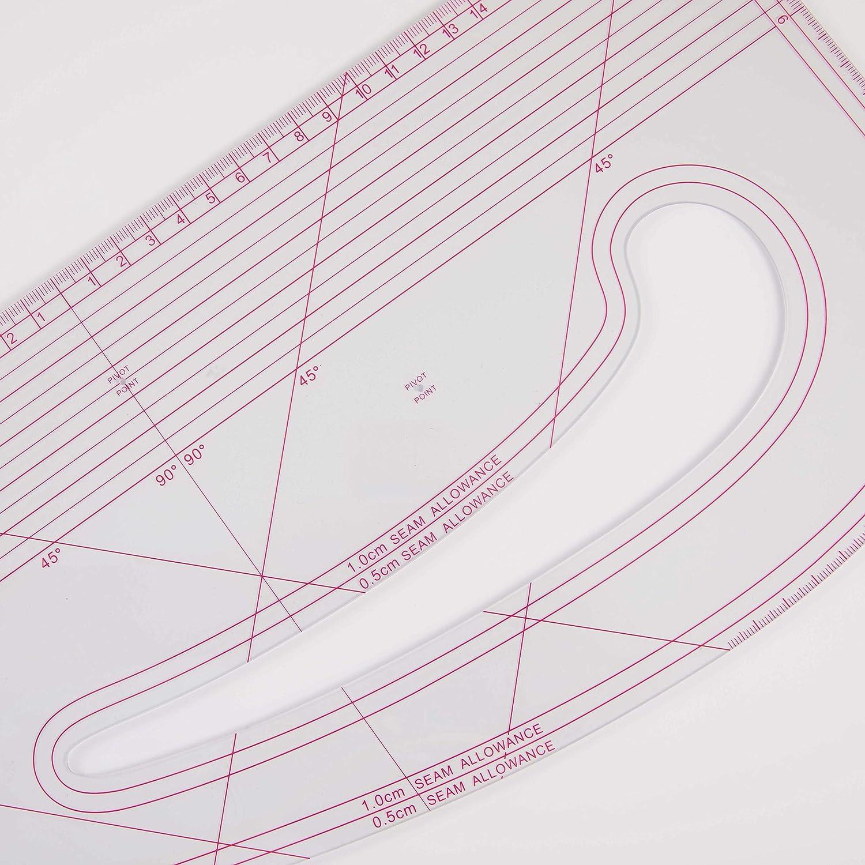tailoring ruler DIHAN #9511 transplant drawing Mold Ruler,seam allowance French curve Ruler vary form plastic Tailor fashion design ruler garment ruler pattern making ruler sewing ruler,cutting ru