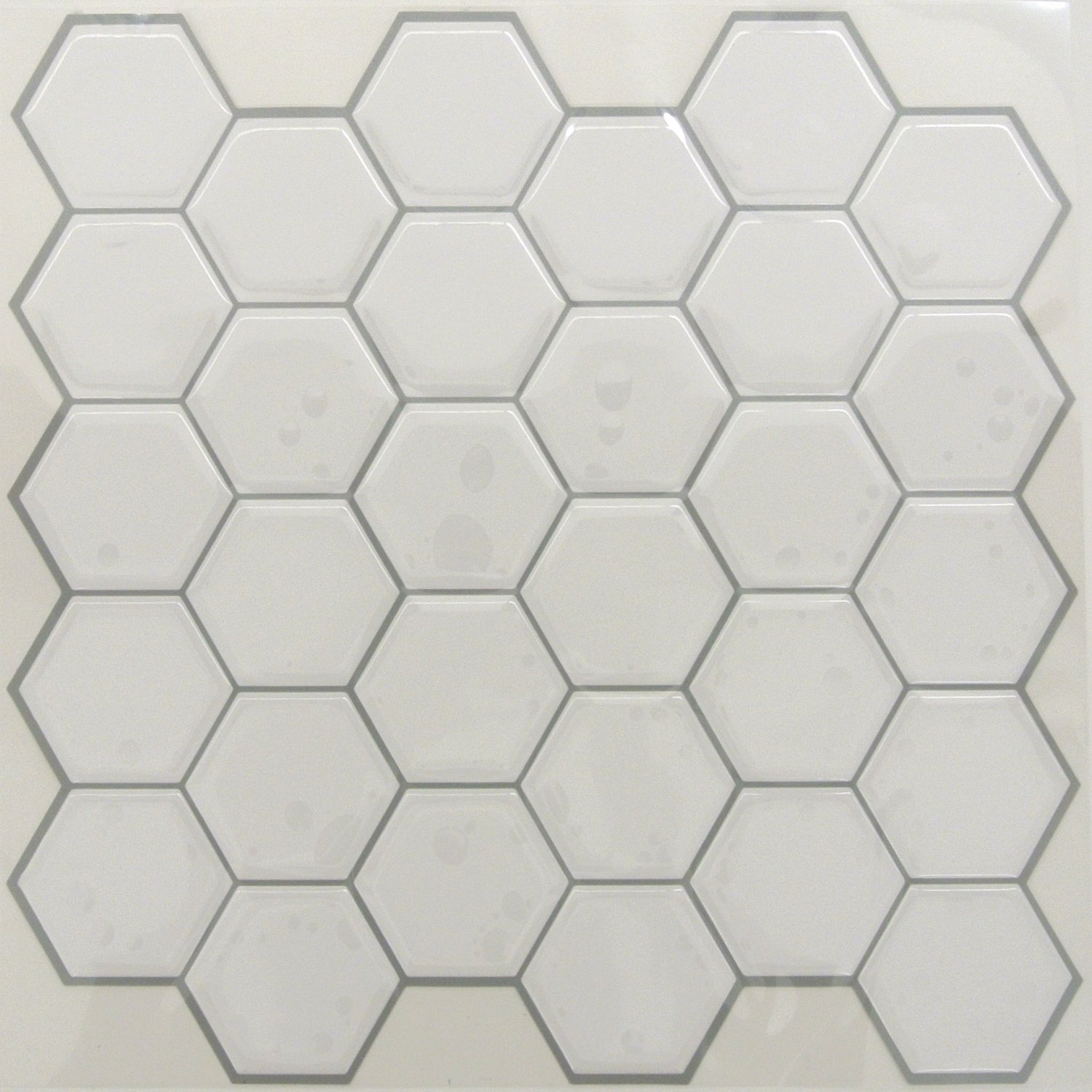 RoomMates StickTILES Pearl Hexagon Peel and Stick Backsplash Tiles - 4 Per Pack