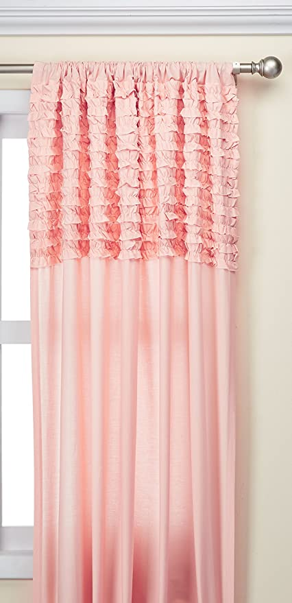 Amazon.com: Madison Park Pink Curtains For Living Room, Cottage ...
