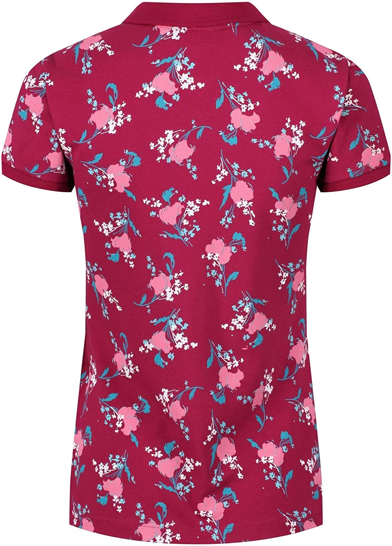 Regatta Womens Faine Cotton Stretch Button Up Print Long Sleeves Polo Shirt