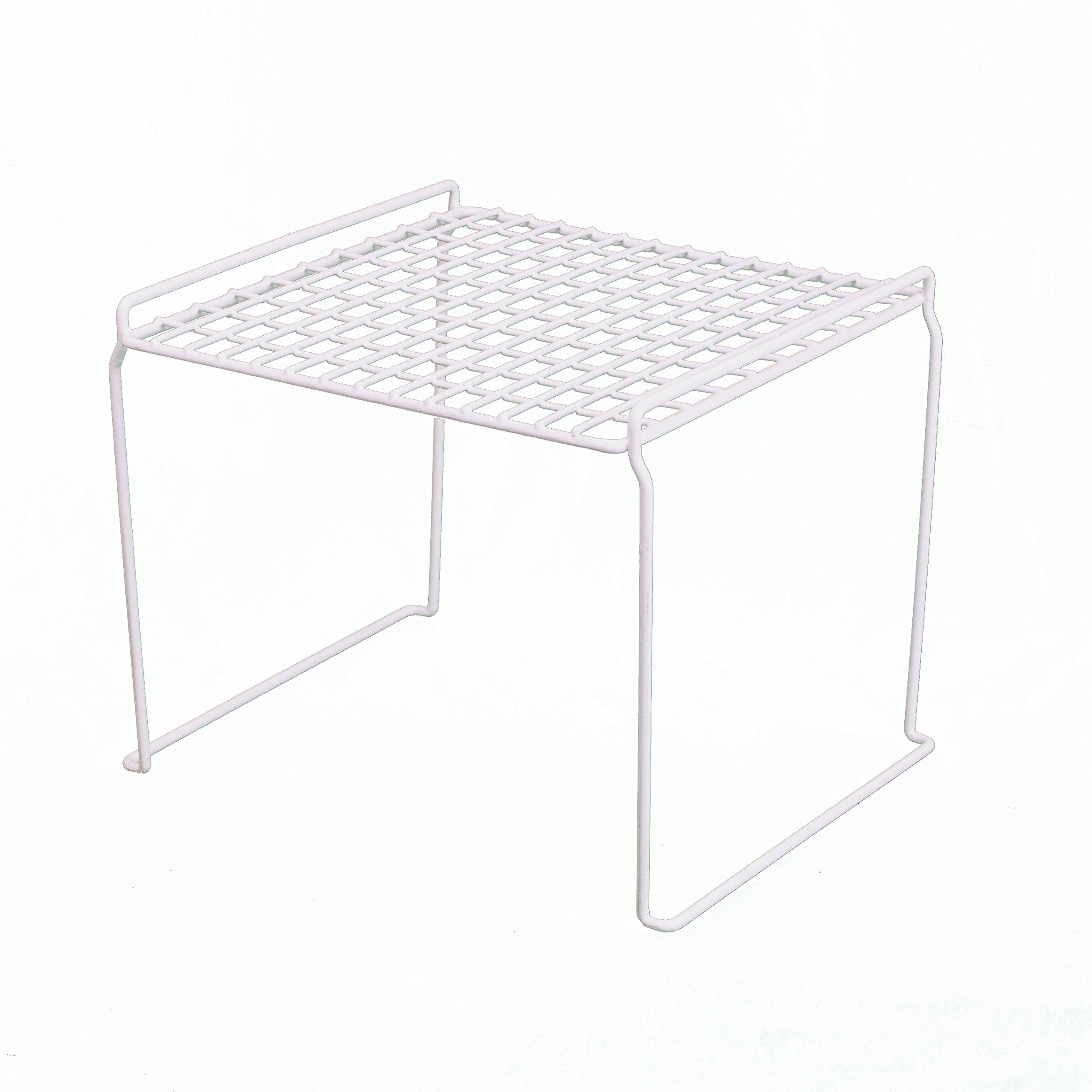 Grayline 44021, Square Heavy Duty Stacking Shelf, White