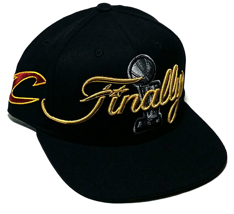 69e324831ab0d Amazon.com   Cleveland Cavs Cavaliers Adidas NBA Finals Trophy Finally  Black Snapback Hat Cap   Sports   Outdoors