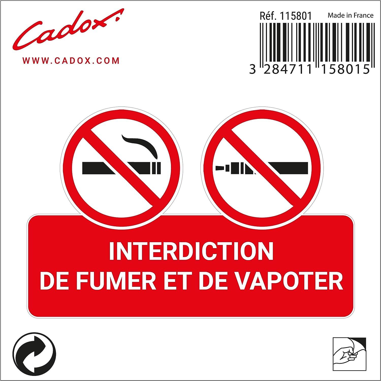 Cadox Adhesif Interdiction de fumer et de Vapo