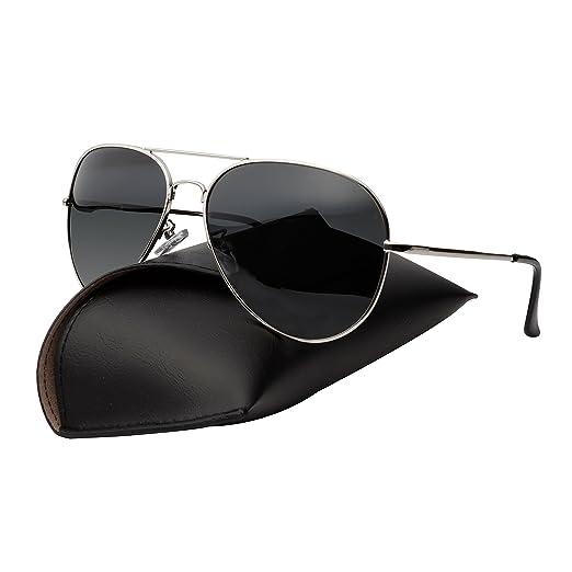 55461d0835 Amazon.com  Premium Military Style Classic Aviator Sunglasses ...