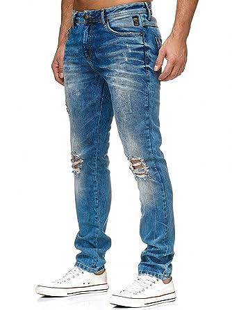 1b200a9349 Redbridge Hombres Vaquero Recto Pantalones Rasgados Denim Moda Jeans   Amazon.es  Ropa y accesorios