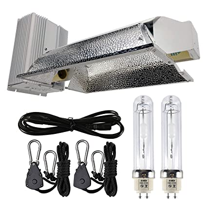 iPower 630W Double Lamp Ceramic Metal Halide Grow Light System Kits 240V CMH Bulb is NOT included