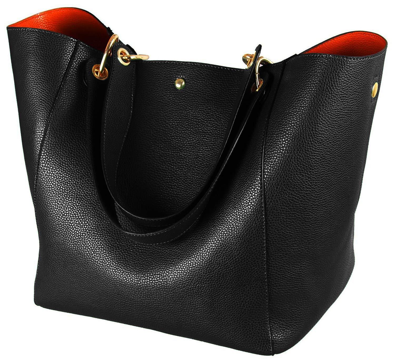 Large Capacity Work Tote Bags for Women's Waterproof Leather Purse and handbags ladies Waterproof Big Shoulder commuter Bag