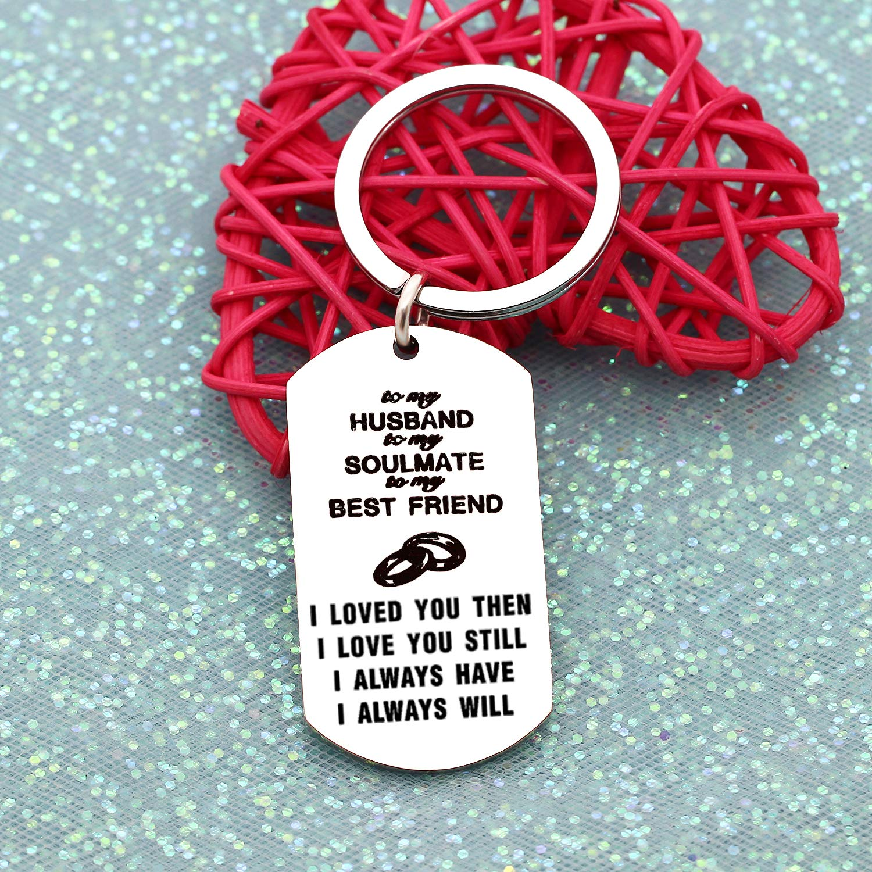 Husband Wife Anniversary Gifts Romantic Car Home Keychain Keyring Key Ring Chain Jewelry Husband