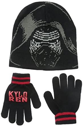 Amazon.com  Star Wars Big Boys  Episode 7 Kylo Ren Beanie and Glove ... 41b7395bc8f1