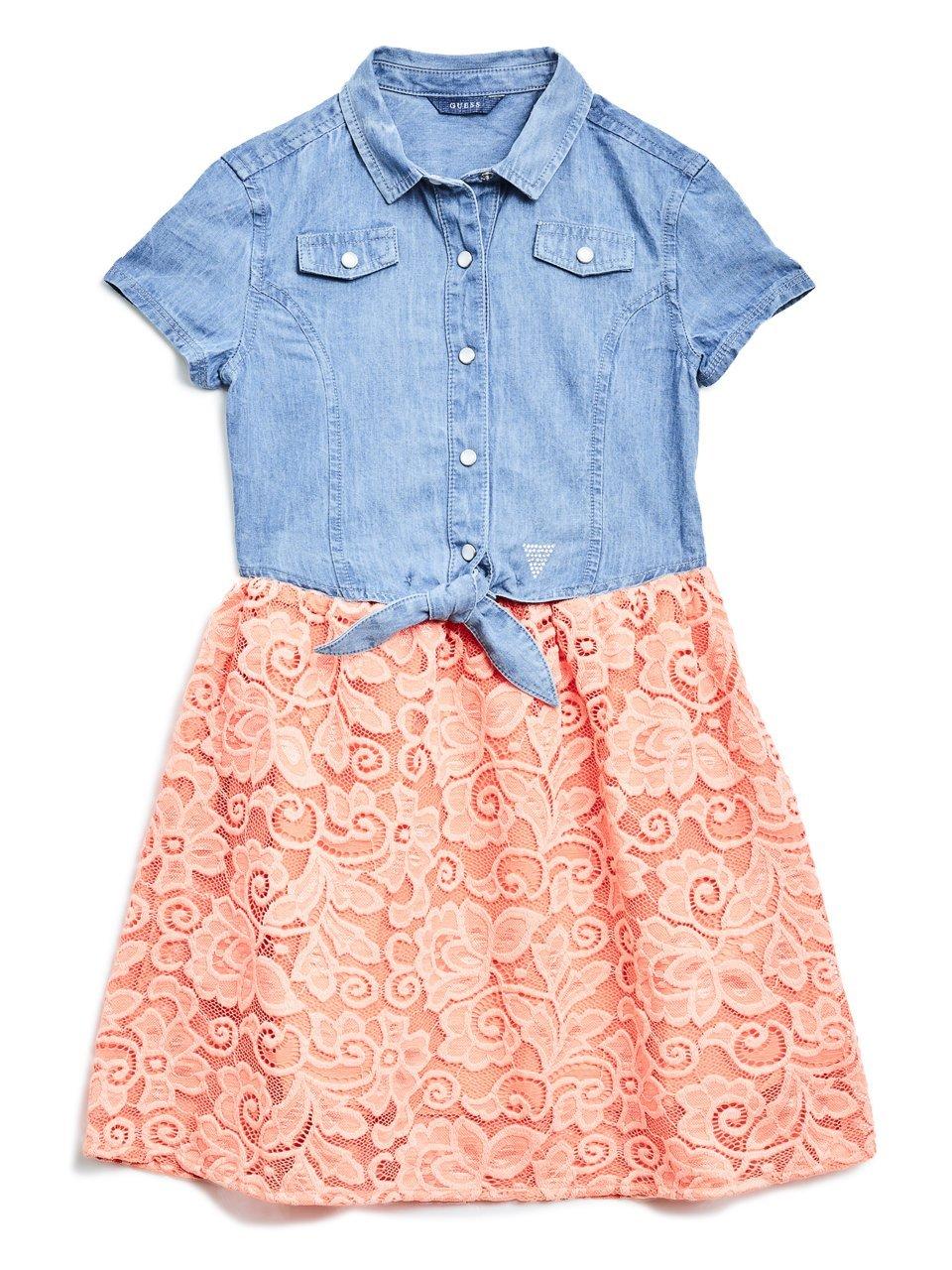 GUESS Denim Two-Fer Dress (7-16)