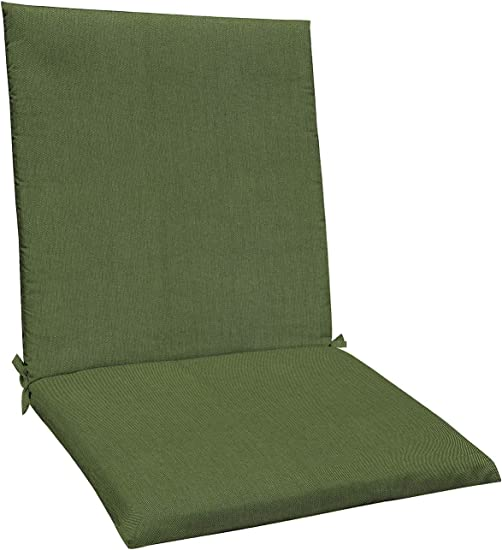 Honeycomb Indoor/Outdoor Sunbrella Spectrum Cilantro Midback Dining Chair Cushion: Recycled Polyester Fill