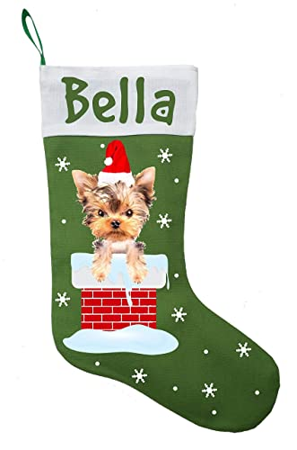 Amazon Com Yorkshire Terrier Christmas Stocking Yorkshire Terrier
