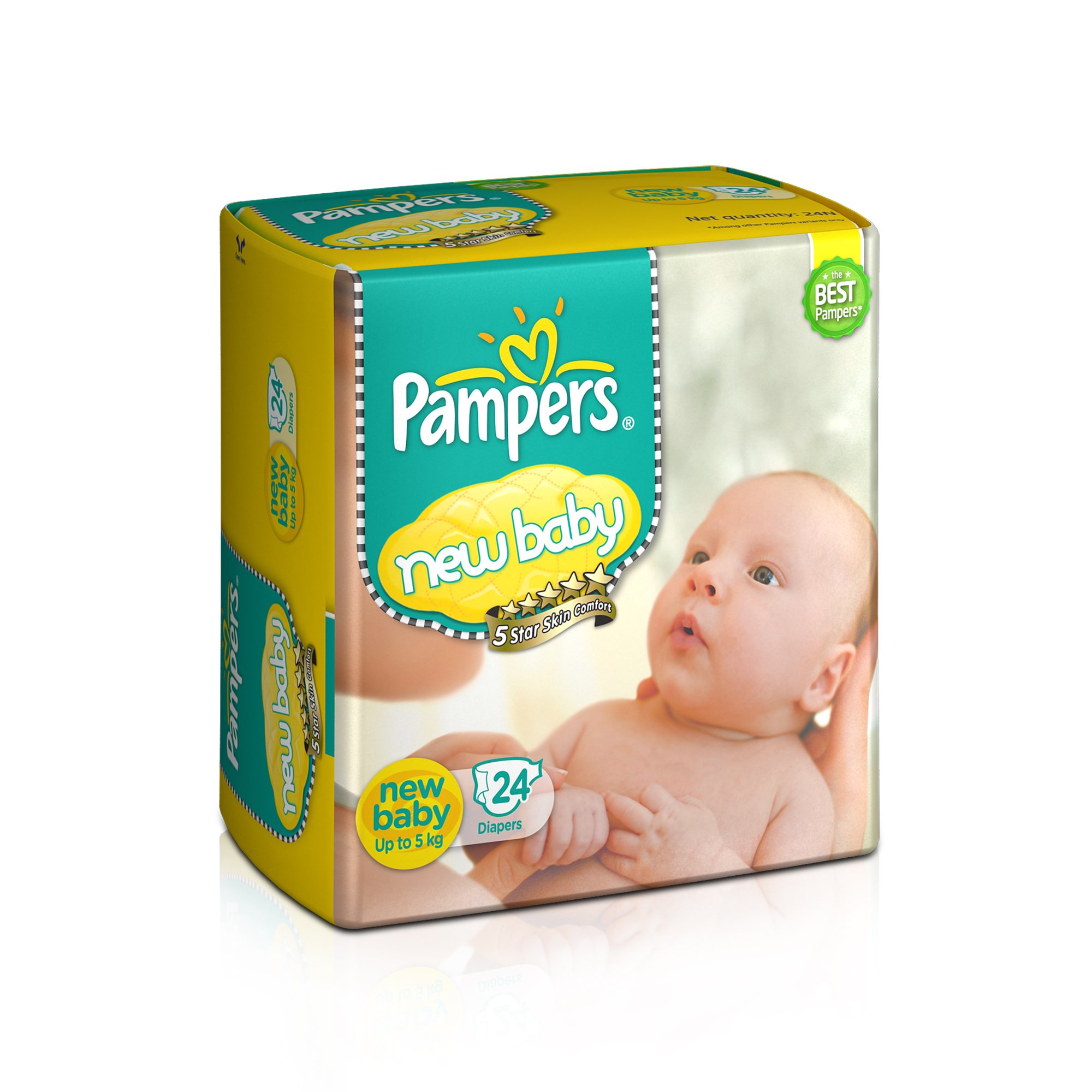 Pampers New Baby Diapers (24 Count) product image
