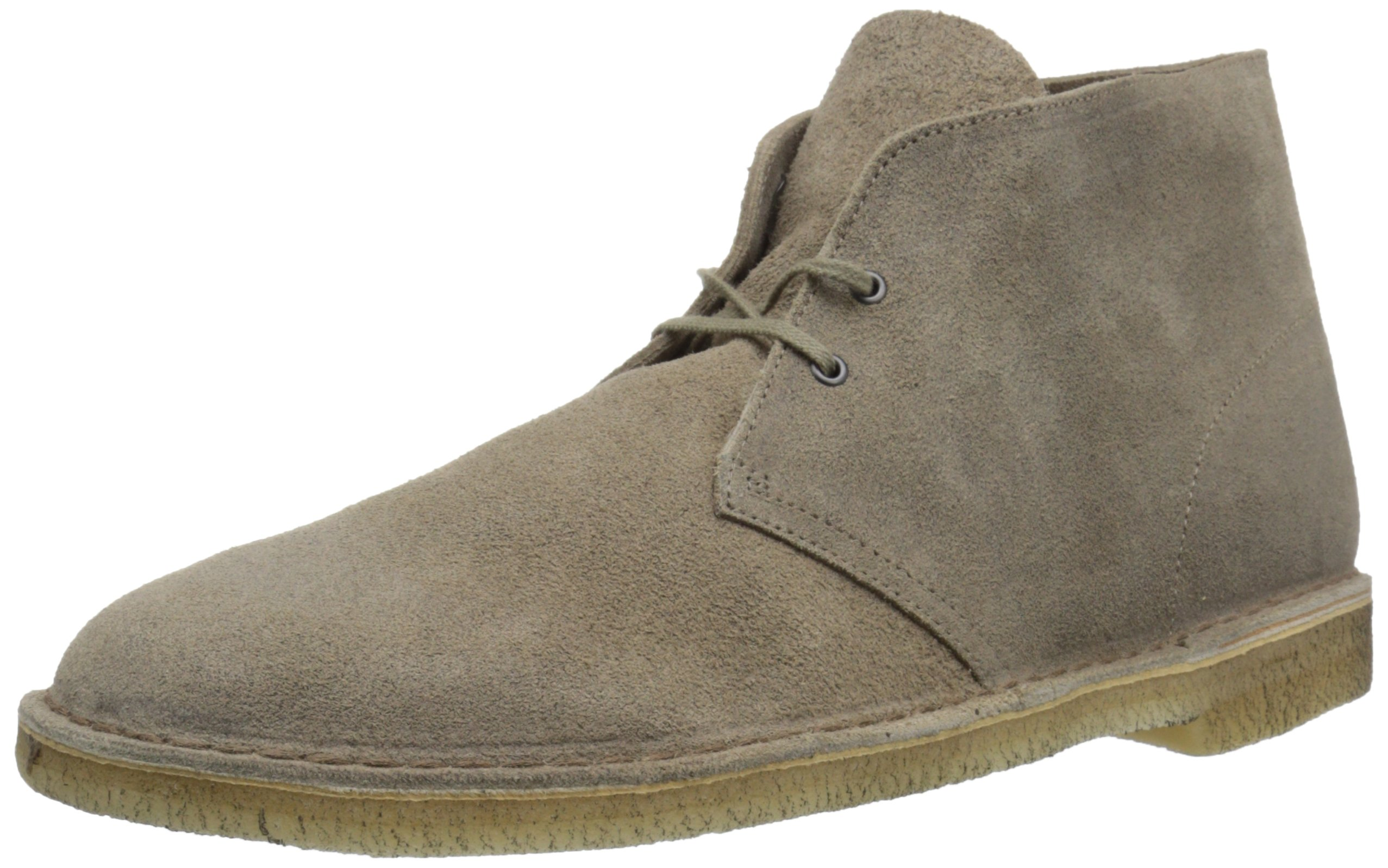 CLARKS Men's Desert Chukka Boot, Taupe Suede, 12 Medium US by CLARKS
