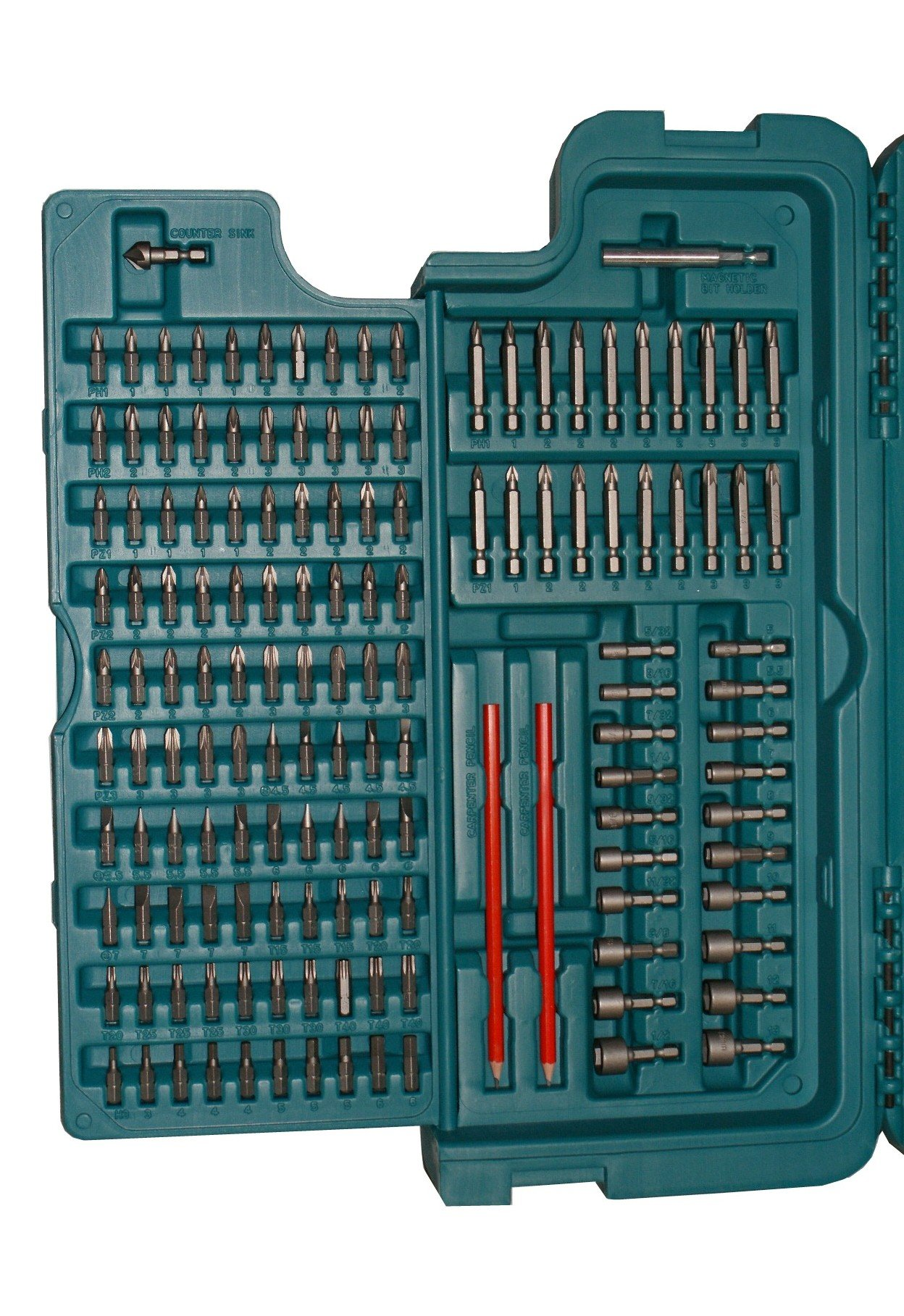 MAKITA 252 PIECE ACCESSORY KIT IN BLOW MOULDED CASE SCREWDRIVER, DRILLBITS GREAT FOR BUILDERS,TRADE,DIY by Makita (Image #4)