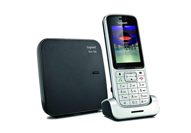 Gigaset SL450 - Teléfono (Analog/DECT, Negro, Plata, TFT, Li-ion, Escritorio, 240 x 320 Pixeles): Amazon.es: Electrónica
