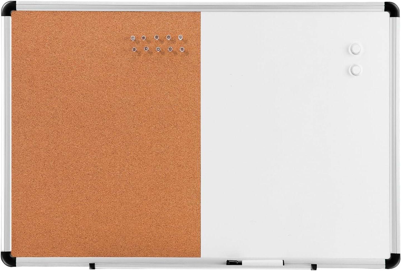 "Amazonbasics Combo Magnetic Whiteboard Dry Erase Board/Cork Board 36"" x 24"""