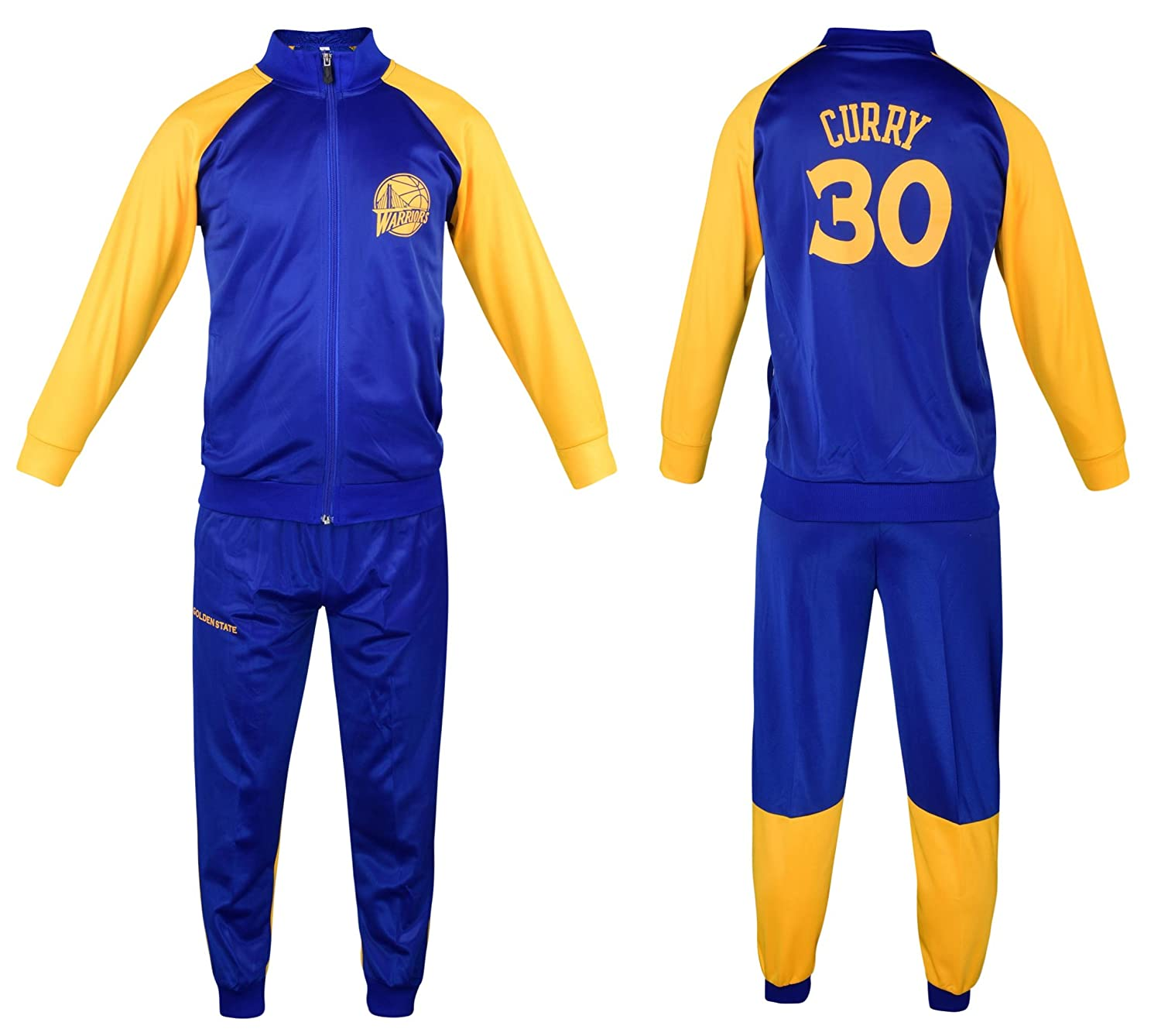 check out 67d82 0f9b0 Sports Fanatics Steph Curry Basketball Tracksuit Youth Sizes Premium  Quality Track Jacket with Pants
