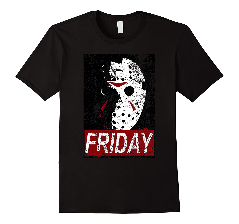It's Friday Horror Shirt - Hockey Mask - Horror T Shirt-Rose