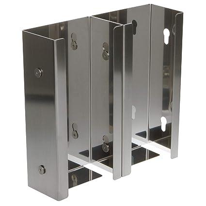 Guante de dispens erhalter ranuras de acero inoxidable Sistema 75 mm Pared dispensador dispensador Box
