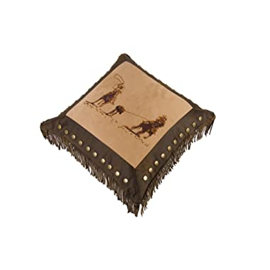 HiEnd Accents Team Roping Western Pillow