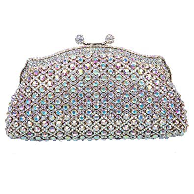 Bonjanvye Glitter Flower Clutch Handbags for Women Purses Bling Evening Bag Multicolor CcsHlhsDCT