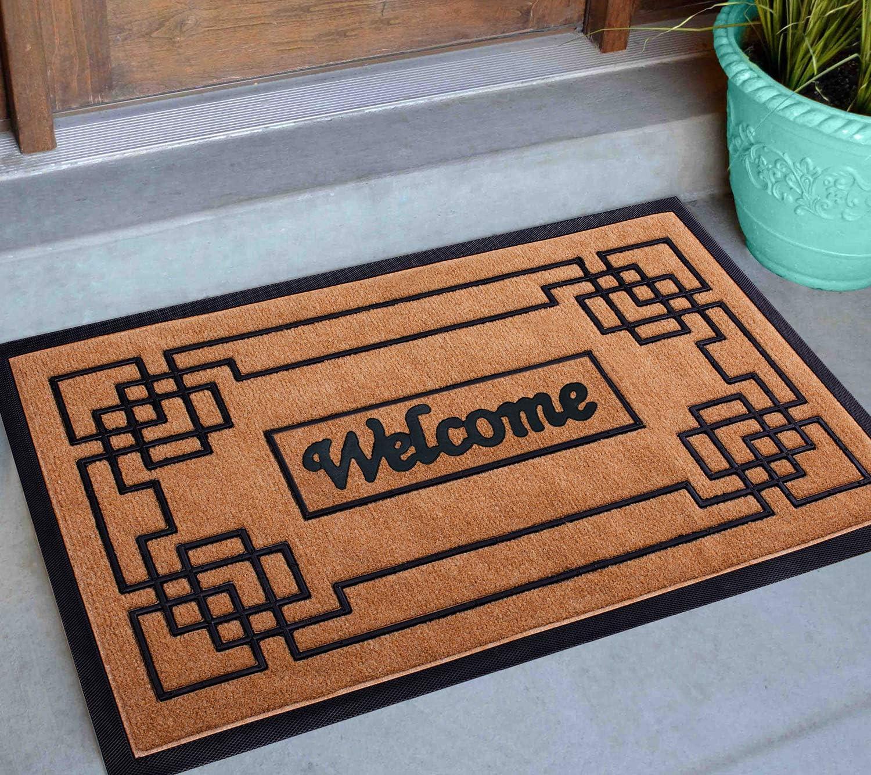 Welcome Mat Outdoor 30x18, Front Door Mat Outdoor, Heavy Duty Door Mats for Outside Entry, Cute Outdoor Doormat, Home Entrance Rug, Welcome Mats for Front Door Indoor, Outdoor Mats for Front Door