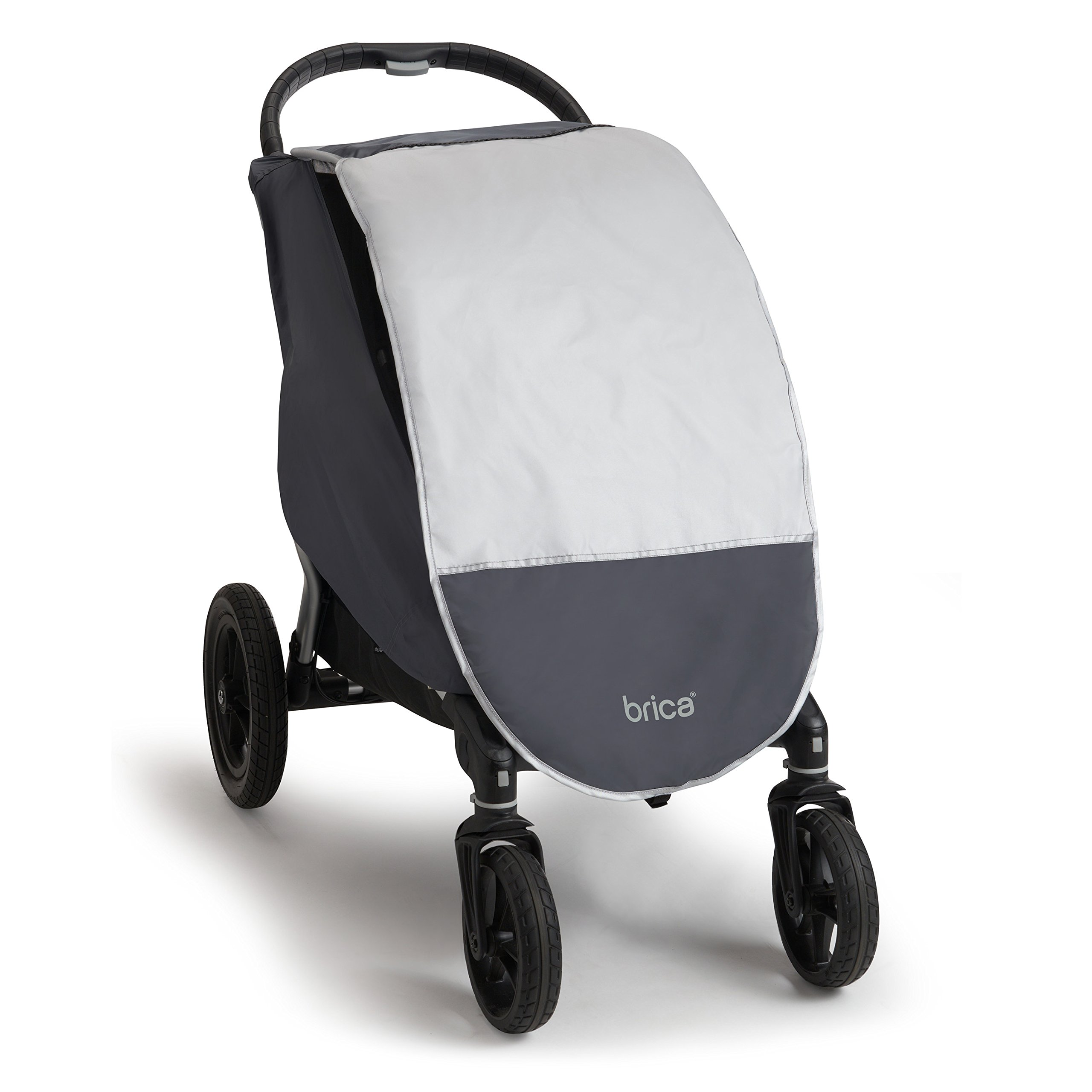 Munchkin Brica Shield Stroller Cover, Helps Block UVA/UVB Rays, Grey by Munchkin (Image #4)