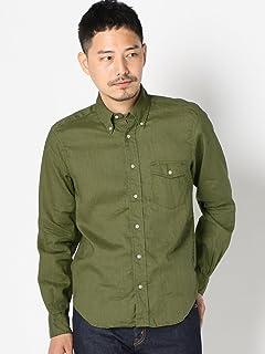 Linen Buttondown Shirt 111-10-0153: Olive