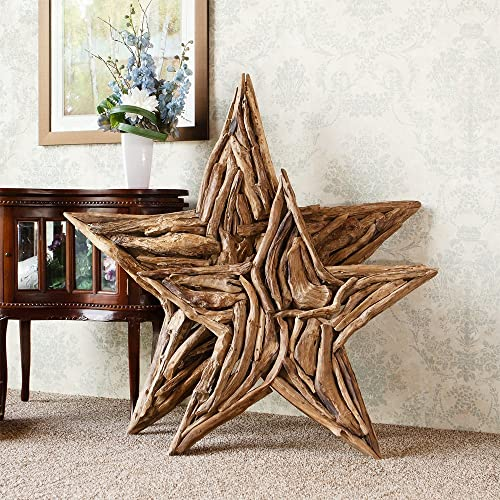 Garden Age Supply Natural Driftwood Branch Star Home Wall Decor
