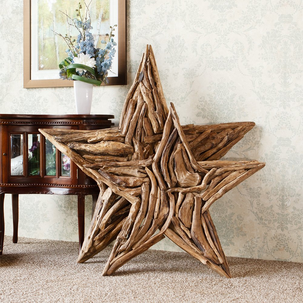 Amazon.com: Natural Driftwood Branch Star Home Wall Decor: Home Improvement