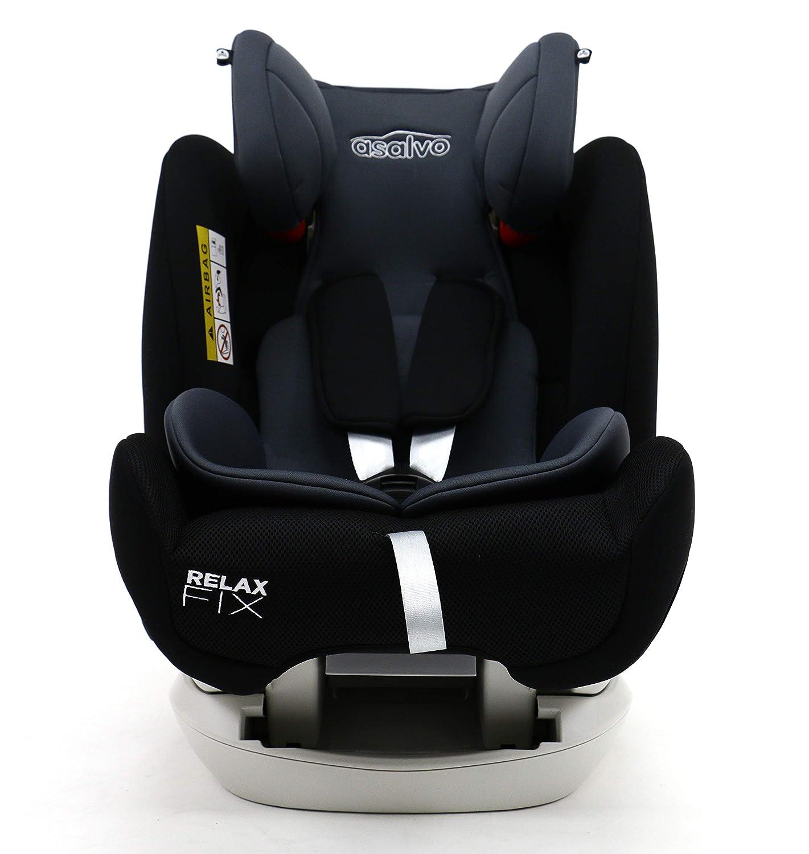 asalvo –  Seggiolino per auto gruppo 0,1,2,3 Relax Fix, colore: Nero 3Relax Fix 16270