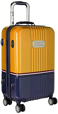 Amazon.com | Tommy Hilfiger Duo Chrome 21 Inch Spinner Carry-On ...