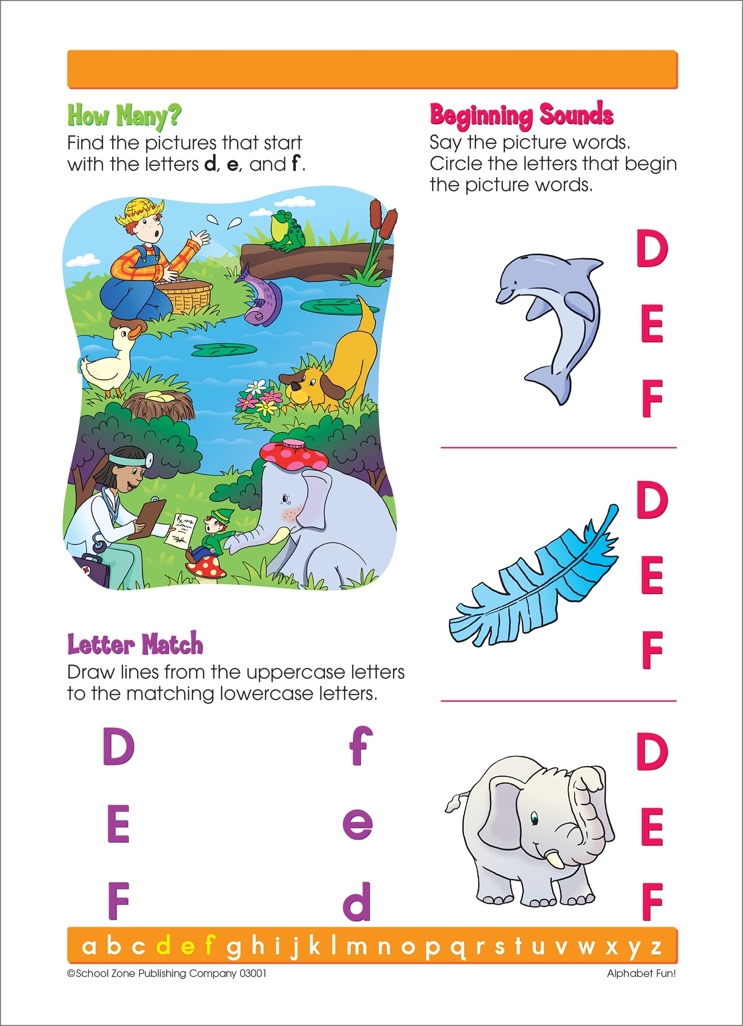 School Zone Alphabet Fun Write and Reuse Workbook Ages 4 to 6