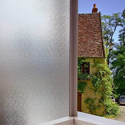 AOKKR Fensterfolie Selbsthaftend Sichtschutz Blickdicht Dekorfolien  Milchglasfolie Gute Privatsphäre Schutz für Badezimmer Umkleide  Konferenzräume ...
