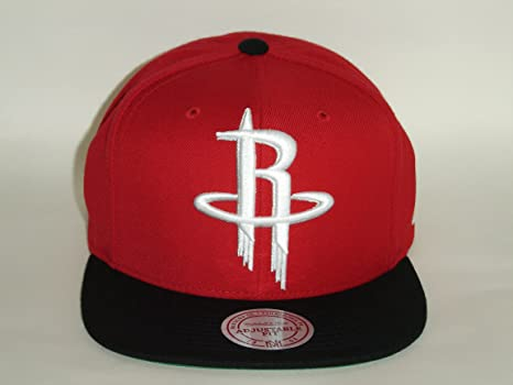 6fd0e8f22 Image Unavailable. Image not available for. Color  Mitchell and Ness NBA  Houston Rockets Red Acrylic 2Tone Snapback Cap