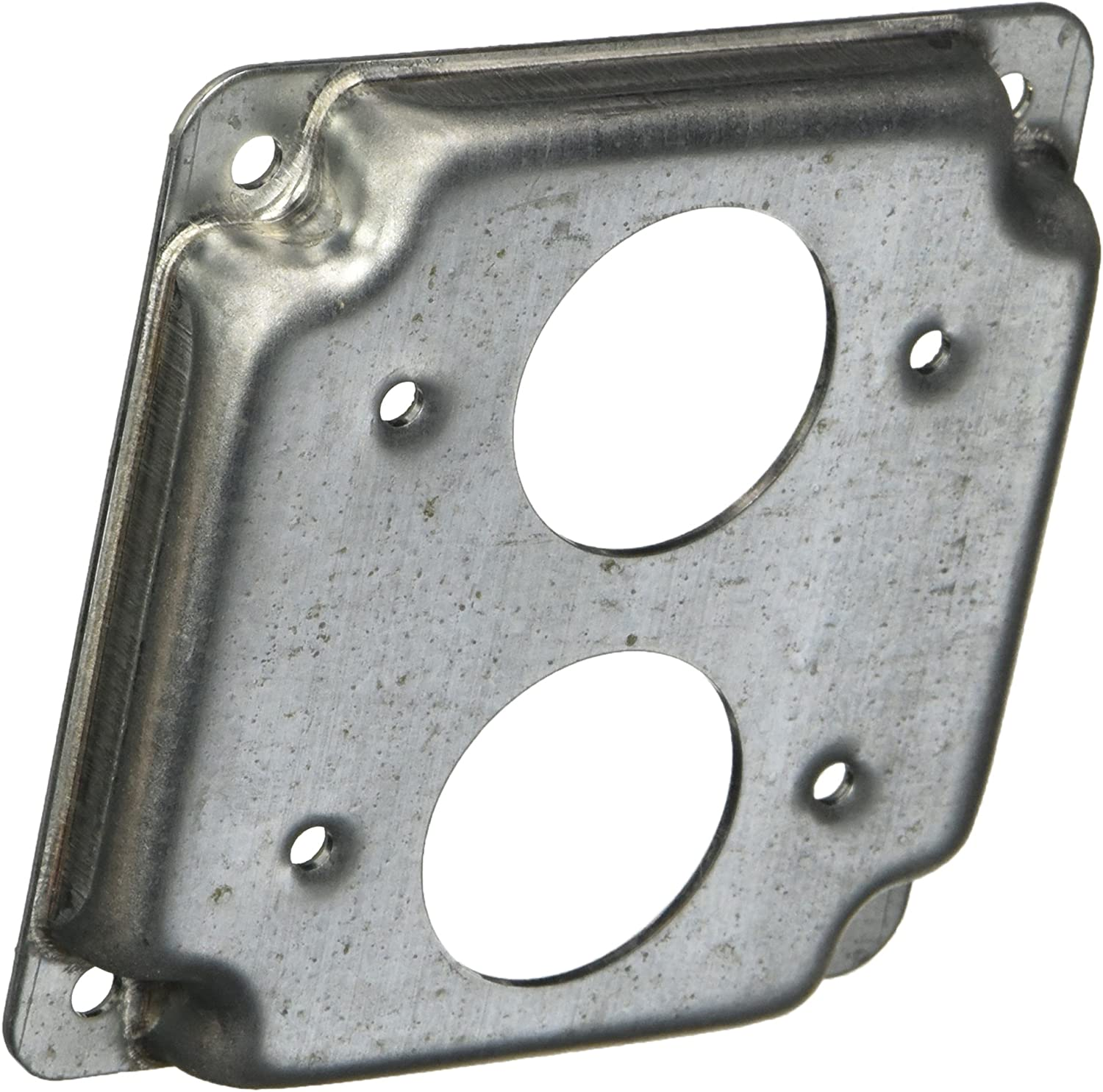 1.41-Inch Diameter Receptacle and Crushed Corner 4-Inch Duplex, Hubbell-Raco 806C 1//2-Inch Raised Square Cover with 1 1