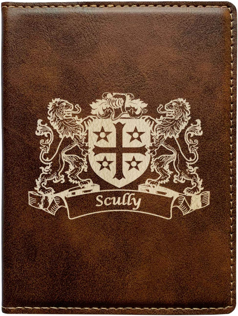 Scully Irish Coat of Arms Leather Passport Wallet