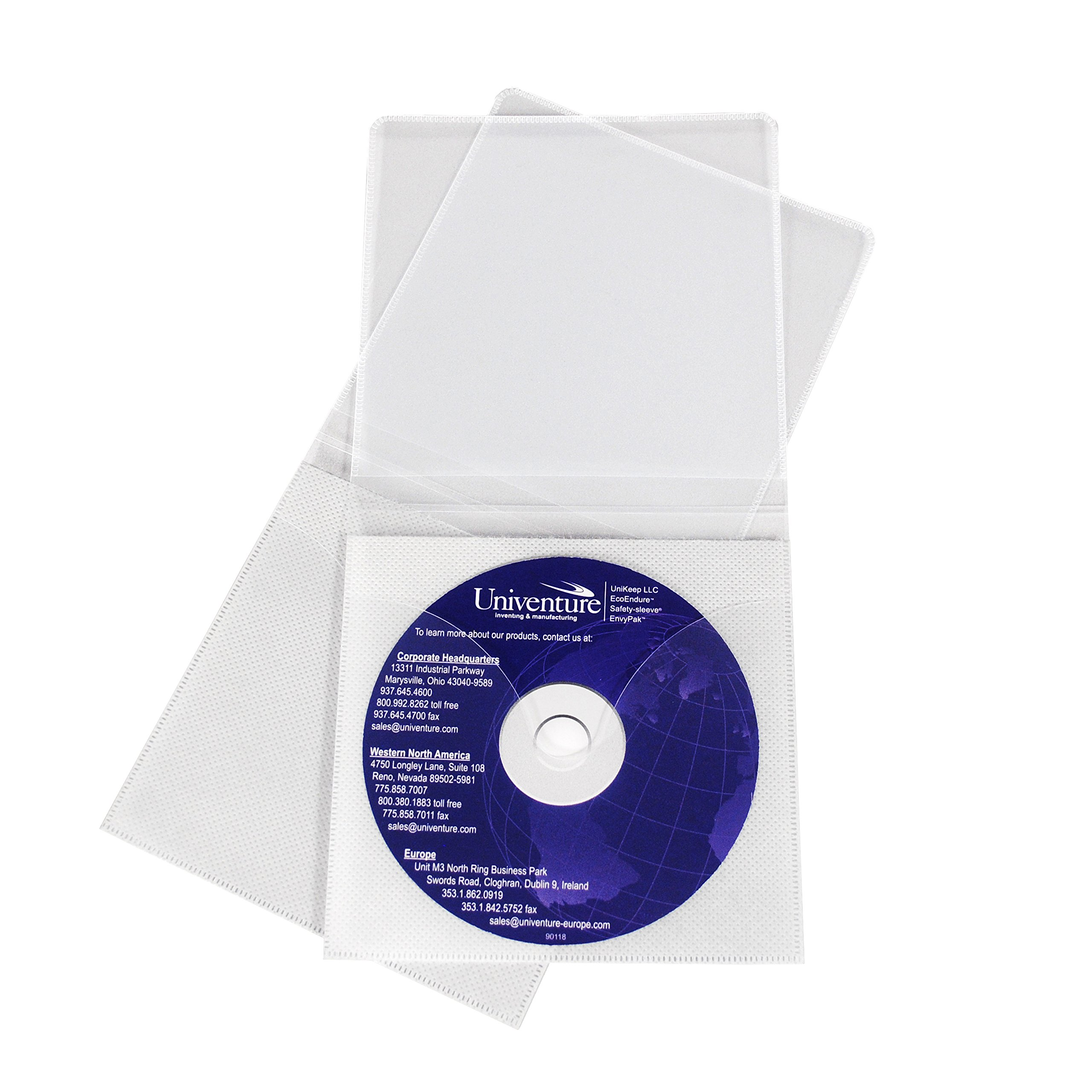 Viewpak XG CD/DVD sleeve with Safety-sleeve® - Box of 500